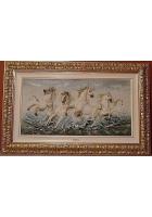 Фарфоровое панно «Бегущие кони»