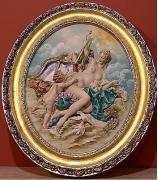 Фарфоровое панно «Венера и купидон»