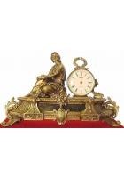 Каминные бронзовые часы «Мелодия»