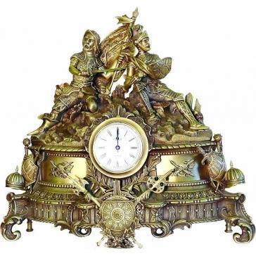 Каминные бронзовые часы «Гладиаторы»