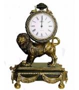 Бронзовые часы «Лев»