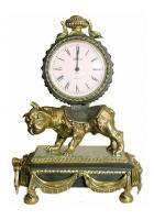 Бронзовые часы «Собака»
