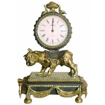 Часы из бронзы «Собака»
