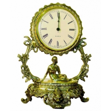 Часы из бронзы «Галактика - Дева»