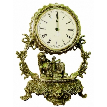 Часы из бронзы «Галактика - Весы»