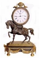 Бронзовые часы «Лошадь»