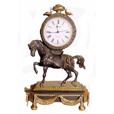 Часы из бронзы «Лошадь»