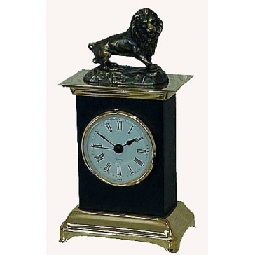 Часы из бронзы «Лев»