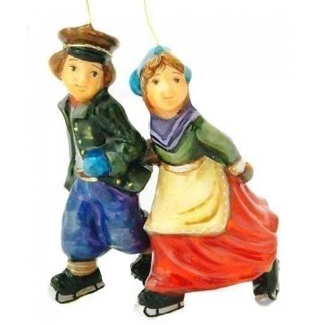 Елочная игрушка из стекла «Пара на коньках», Komozja и Mostowski