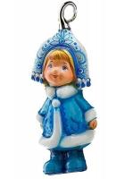 Елочная игрушка «Снежинка-пушинка»