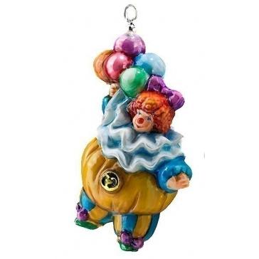 Елочная игрушка ручной работы «Клоун с шариками», 14х7 см