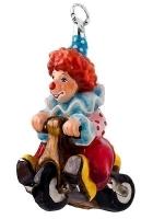 Елочная игрушка «Клоун на велосипеде»