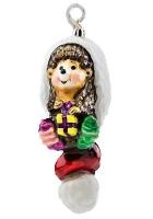 Елочная игрушка «Ежик в шапке»