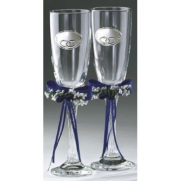 Два бокала для шампанского «Кольца», свадебные бокалы