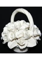 Фарфоровая статуэтка «Корзинка белых роз»