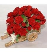 Фарфоровая статуэтка «Букет красных роз»