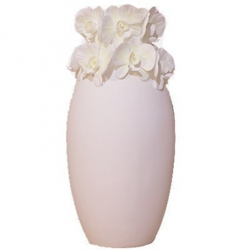 Интерьерная ваза для цветов «Орхидея», бисквитный фарфор, высота 30,5 см