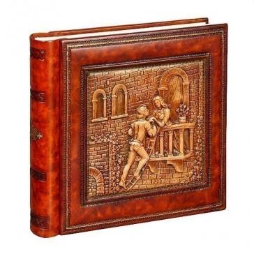 Кожаный фотоальбом «Ромео и Джульетта»