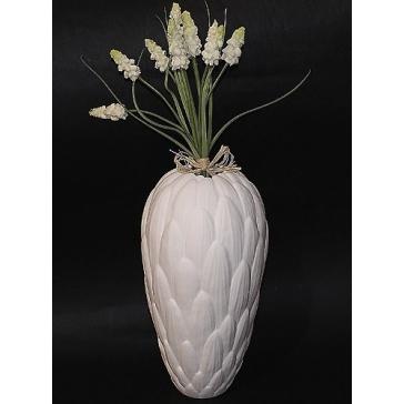 Ваза для цветов «Протея», костяной фарфор, размер 21х10 см