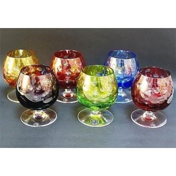 Подарочный набор из 6-ти бокалов для бренди «Staccato», цветной хрусталь, Франция
