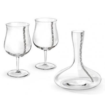 Набор для вина. Декантер и два бокала.