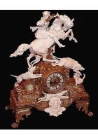 Настольные часы «Охота на кабана»