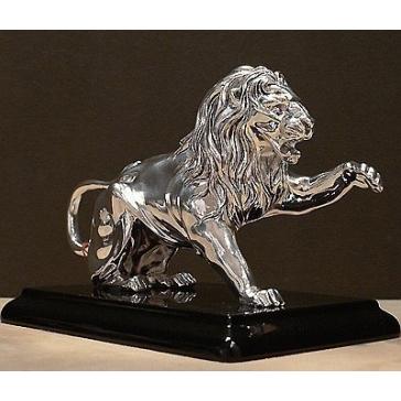 Посеребренная статуэтка «Лев»
