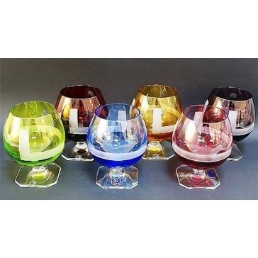 Подарочный набор из 6-ти бокалов для бренди «Sirius», цветной хрусталь