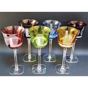 Набор из 6-и бокалов из цветного хрусталя для вина «Сириус»