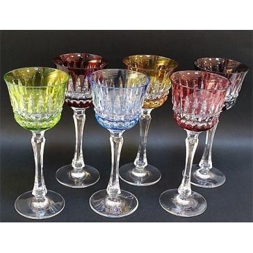 Подарочный набор из 6-ти хрустальных бокалов для вина «Melodie», Франция