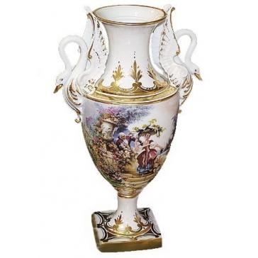 Фарфоровая ваза для цветов «Лебедь»