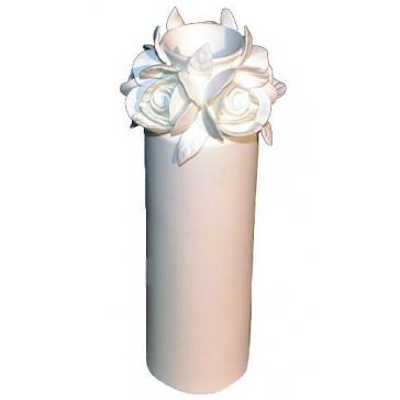 Интерьерная ваза для цветов «Розы», костяной фарфор