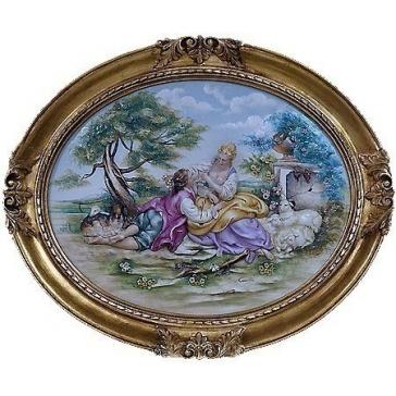 Интерьерная картина из фарфора «Сельский пейзаж», 61х52 см