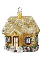Елочная игрушка «Дом с розами»