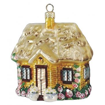Елочная игрушка Komozja Family «Дом с розами»