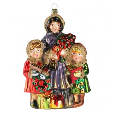 Стеклянная елочная игрушка Komozja Family «Рождественский хор», Польша