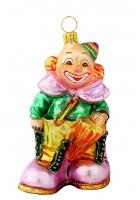 Елочная игрушка «Клоун с зонтиком»