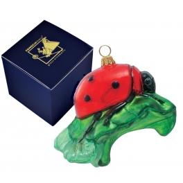 Елочная игрушка с росписью «Божья коровка», Польша, Komozja Family