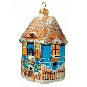 Новогоднее украшение из стекла «Дом», 10х6 см