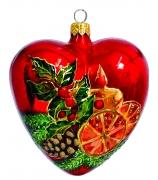 Елочный шар-сердце «Рождество»
