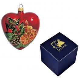 Елочный шар-сердце «Рождество», Польша, Komozja Family