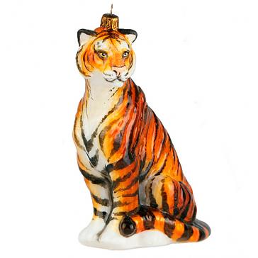 Елочная игрушка ручной работы «Тигр Амур», символ 2022 года