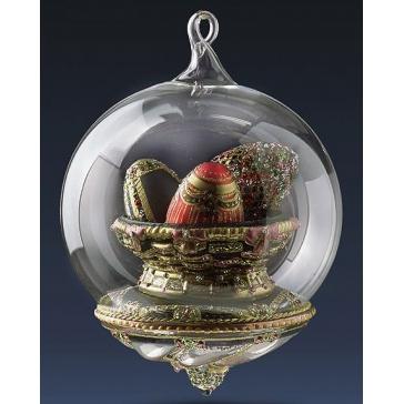 Елочная игрушка-глоб «Царские сокровища» на подставке