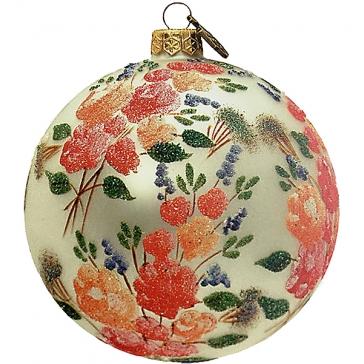 Елочный шар «Цветы»