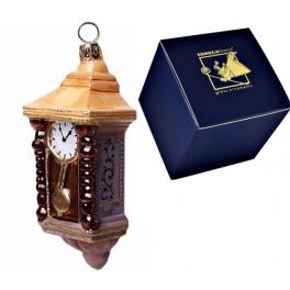 Елочная игрушка из стекла «Часы», размер 10х4 см