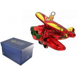 Елочная игрушка польского производства «Аэроплан»
