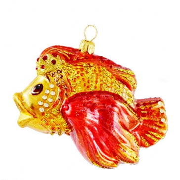 Елочная игрушка «Золотая рыбка» из коллекции Komozja и Mostowski