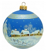 Елочный шар «Зимний хуторок»