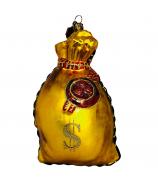 Елочная игрушка «Мешочек с долларами»