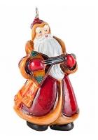 Елочная игрушка «Дед Мороз с балалайкой»